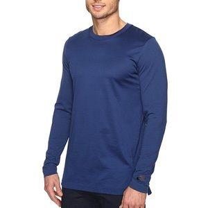 NIKE NSW Modern Long Sleeve Knit Top Blue Large